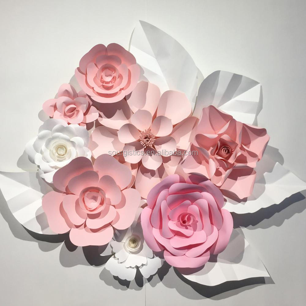 Handmade Wedding Decoration Wall Paper Flower Wedding Backdrop Buy