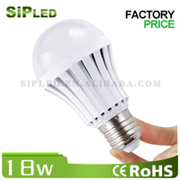 CE ROHS China plastic E27/B22 rechargeable emergency led bulb light, high quality led emergency charging light 18W