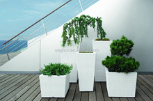 Beautiful hotel garden outdoor planter decoration ratan wicker elegant high italian flower pots