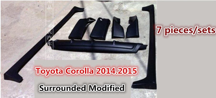 corolla modified surrounded primer front bumper rear bumper side skirt pp injection surrounded. Black Bedroom Furniture Sets. Home Design Ideas
