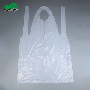 Factory direct wholesale white plastic disposable kitchen aprons for cleaning
