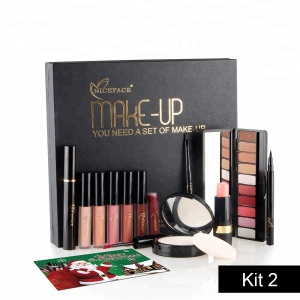 NICEFACE Makeup Tool Kit 12PCS Make Up Cosmetics Including Eyeliner Eye Shadow Brow Mascara Lip Gloss Makeup Set for Gift