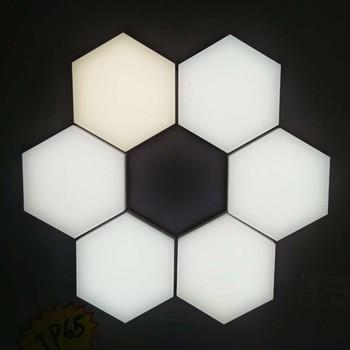 Haute Qualité Bricolage En Forme De Hexagone Mural Puzzle Led