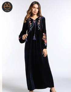 712c2c87255 Muslim Long Dress Velvet