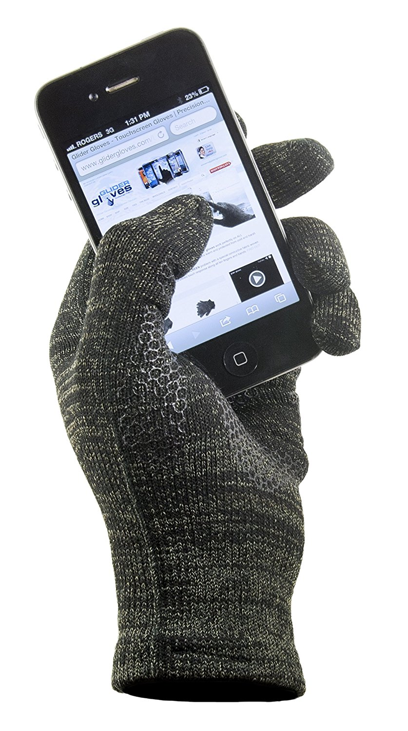 8447da69fa GliderGlove Copper Infused Touch Screen Gloves - Entire Surface Works on  iPhones, Androids, Ipads