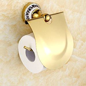 Get Quotations · KHSKX Blue and white paper towel holder toilet paper holder toilet roll box antique gold- & Cheap Gold Plated Toilet find Gold Plated Toilet deals on line at ...
