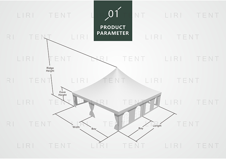 Guangzhou 5X5M Wholesale Large Aluminum Portable Pagoda Gazebo Tents  for Outdoor Party Event