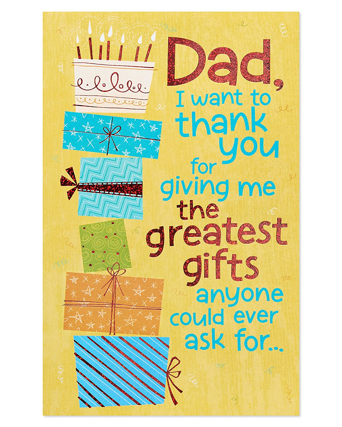 Get Quotations American Greetings Funny Greatest Gifts Birthday Card For Dad With Foil