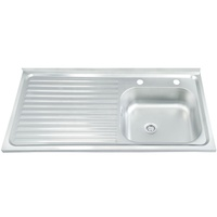 Above Counter 201/304 Stainless Steel Single Bowl For Kitchen With Bar
