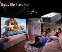 4000 lumens portable Full HD LED data show beamer proyector TV 3D projector with 2 HDMI,2USB for home theater,KTV