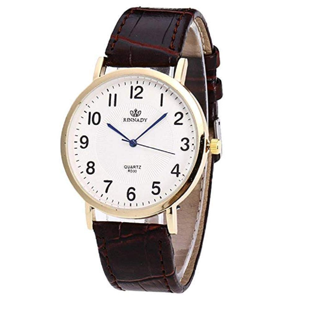 Womens Quartz Watches,Windoson Clearance COOKI Women's Ladies Teen Girls Fashion Dress Wrist Quartz Watch with Leather Band Unique Casual Analog Quartz Watches Classic Wristwatch (Women's Watch A)