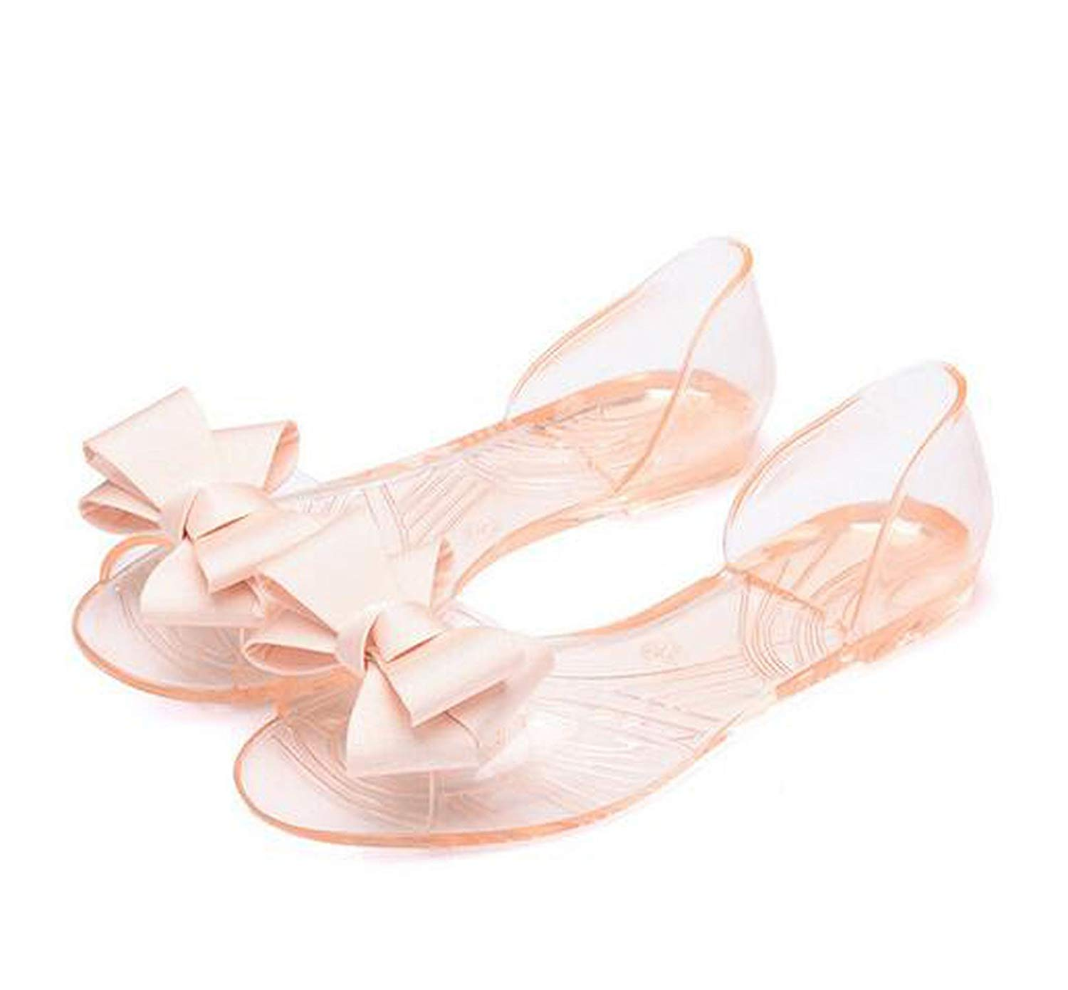d2e33538142417 Get Quotations · shine-hearty-heeled-sandals Women Sandals Style Bling  Bowtie Peep Toe Jelly Shoes