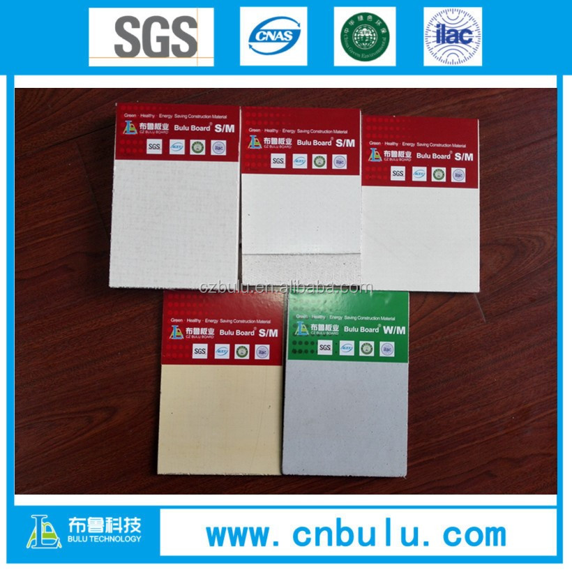 3-20mm fireproof Sulphate mgo board/ mgo lightweight wall panel