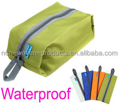 OEM Shoe Bag Use and Polyester Material Travel Storage Shoe Bag with zipper closure