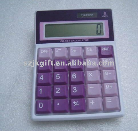 MANUFACTURER colorful button & key solar desk calculator for promotion gifts
