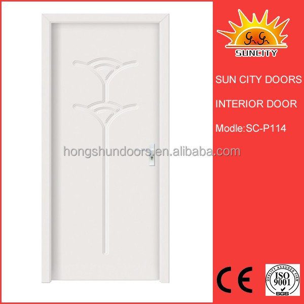 SC-P114 simple design cheap pvc bathroom door price bangladesh