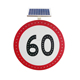 High Visibility solar powered traffic speed limit sign board