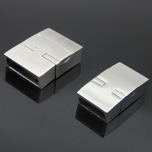 Wholesale Jewelry Findings amazing service 16.5x5mm/12x4.5mm Stainless Steel Magnetic Rectangle Clasp for paracord bracelets