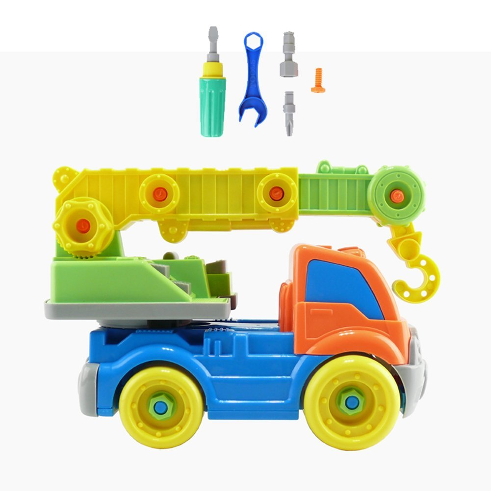 Take a Part Crane Vehicles Kids Child Disassembly Car Toy Gift Construction Puzzle Toy for Children Early Education Toy Best Gift for Kids