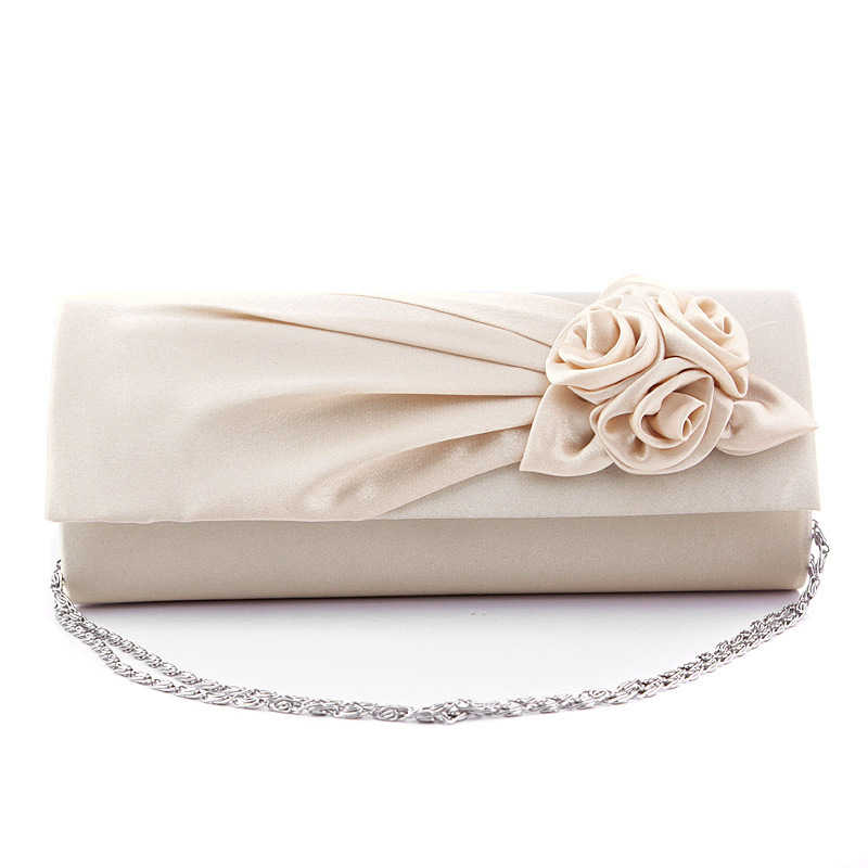 Get Quotations New Fashion Evening Bags Wedding Clutches Bridal Bolso Flower Bride Satin Handbag Party Bag