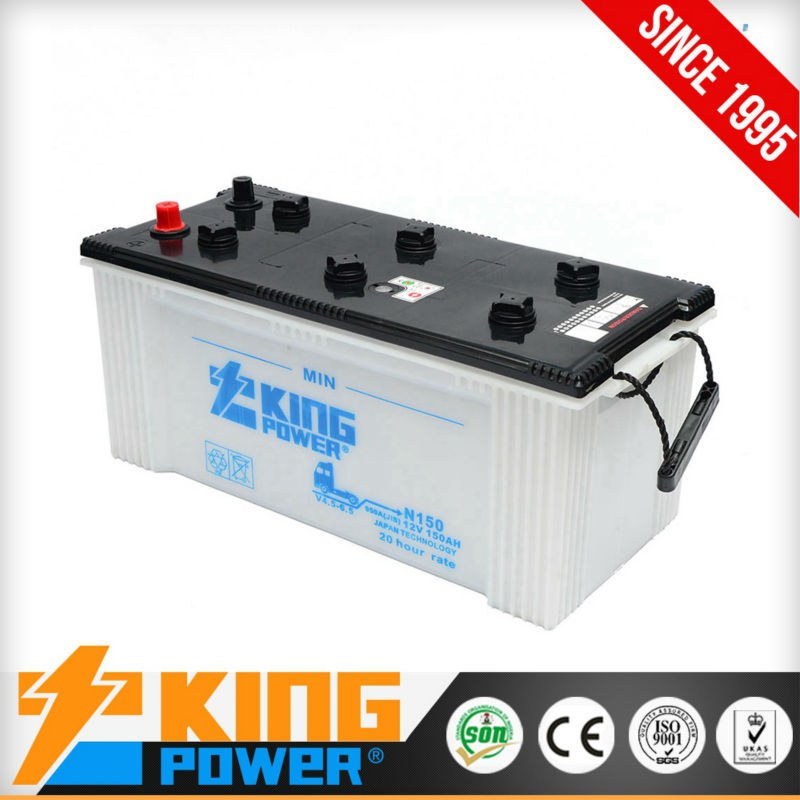 Super heavy duty dry charged car batteries N150