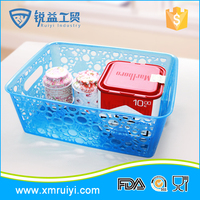 Wholesale colorful custom home storage plastic basket gifts