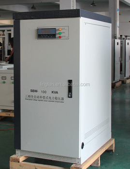 CE approved SBW 100KVA 120KVA 150KVA voltage stabilizer 3 phase