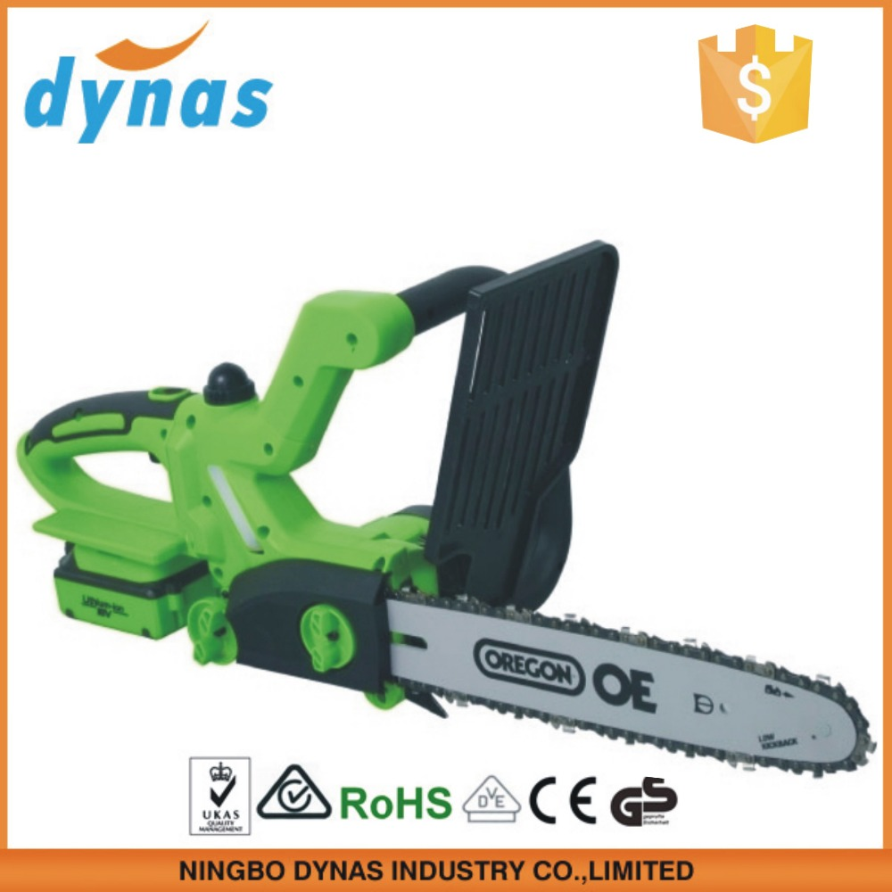 Dynas 20V cordless chain saw with displacement