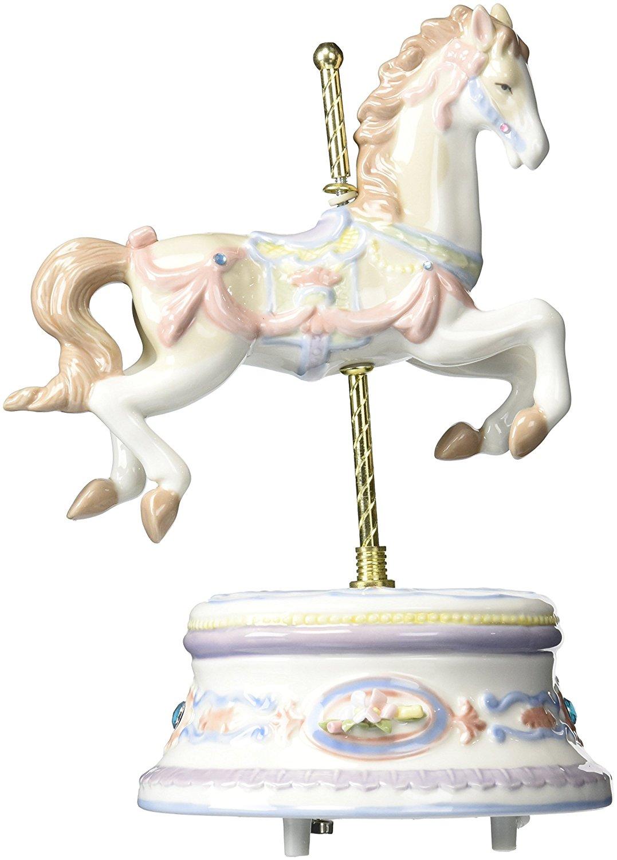 Cosmos SA49120 Fine Porcelain Carousel Horse Musical Figurine, 8-1/2-Inch