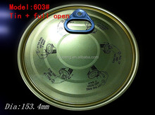 603#(153.4mm) sell the high quality full aperture tinplate easy open lids printed pictures