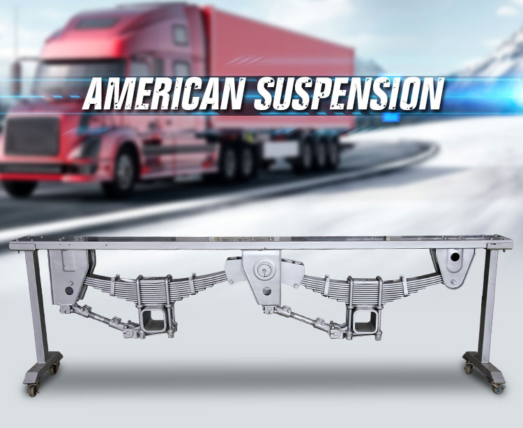 Heavy Duty Truck Trailer American Type Mechanical Suspension System