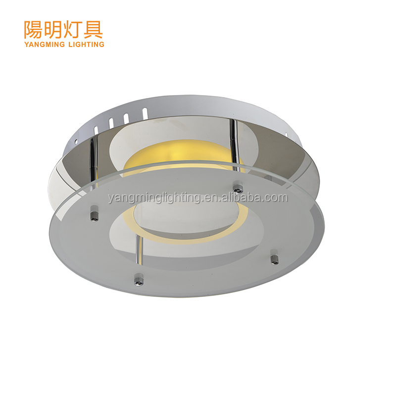 Hot Selling LED 9W Ceiling Light with Chrome Finishing and Glass material for Hotel, Home, Office
