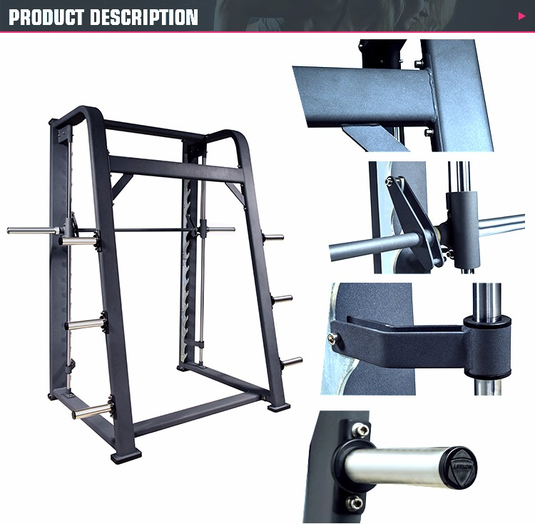 Heavy Duty 7-degree Gym Fitness Equipment Commercial Smith ...