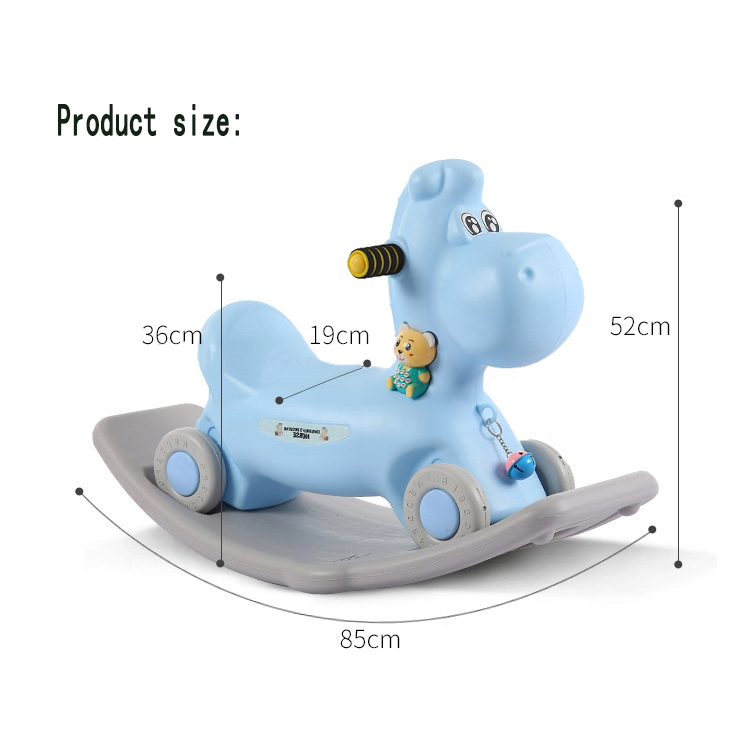Dual-use kids sliding toy plastic roking shorse rider for kid 2 in 1