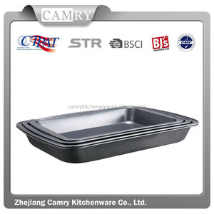 3pcs carbon steel non stick roast pan sets
