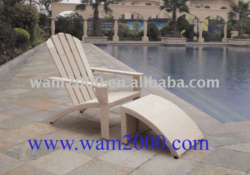 patio garden aluminum pe rattan Adirondack chair for outdoor