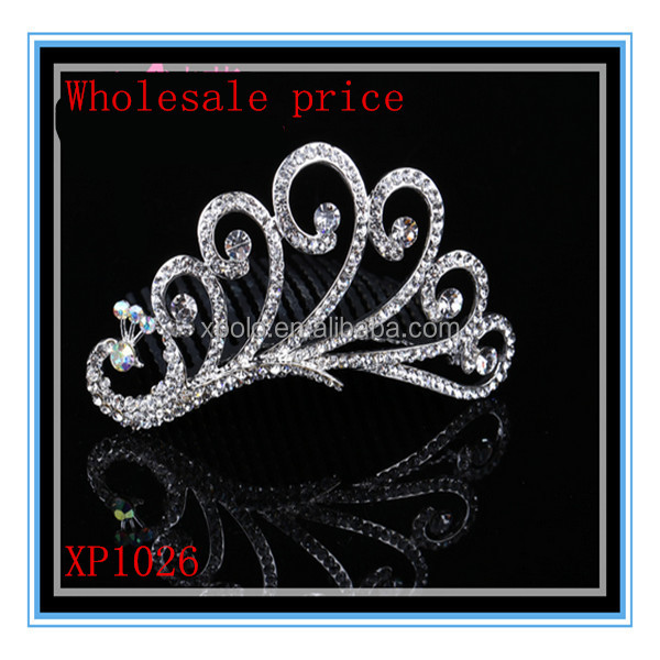 Factory wholesale price low MOQ crystal rhinestone claw clip comb, wedding bridal hair accessory