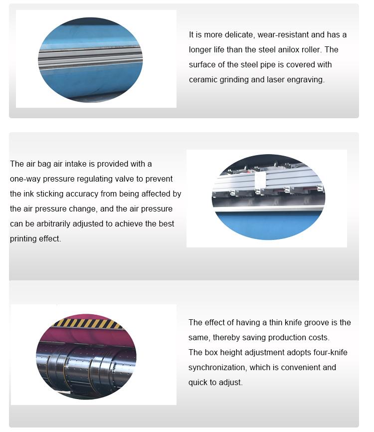 Ozean automatische wellpappe flexodruck sterben-schneiden maschine