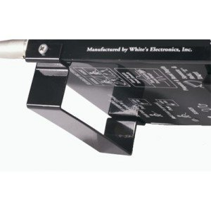 Whites Detector Stand (matte black) for DFX, XLT, MXT, and M6 Metal Detectors.