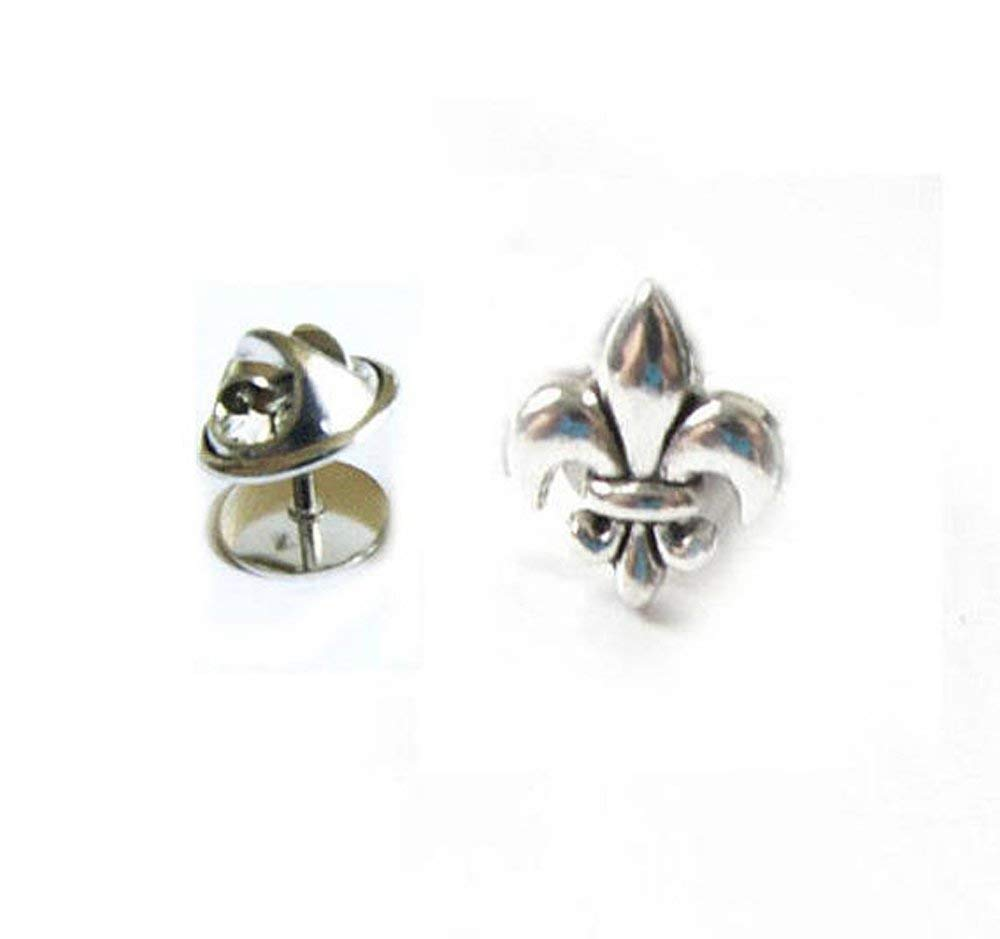40aa4c75ba08 Get Quotations · Fleur de lis Saturn Tie Pin, French Flower Tie Tack