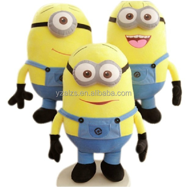 3pcs / set doll Movie Plush Toy 18cm Minion Jorge Stewart Dave