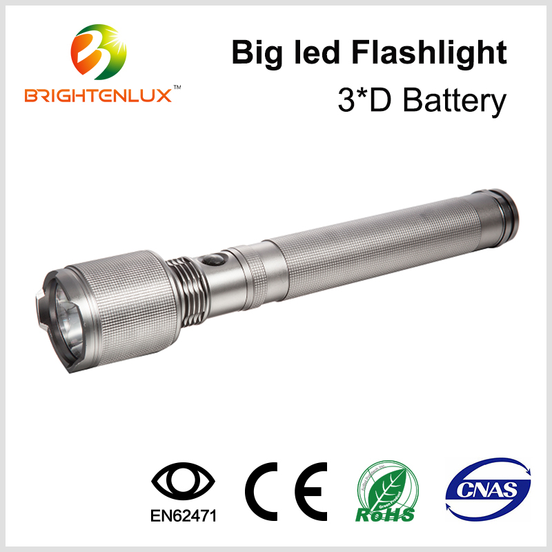 Factory Wholesale Heavy Duty Tactical Powerful 3*D Cell Powered Long Beam Distance Q5 Cree led Hunting Torch Light