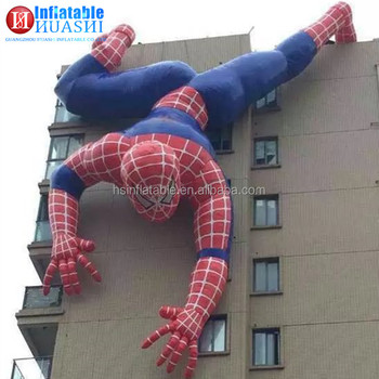 Cheap outdoor commercial used giant cartoon spider man inflatable super hero for sale
