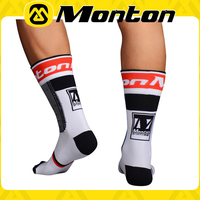 Monton original brand fashion design high quality breathable&fitness high Silk stockings socks in cycling 2015