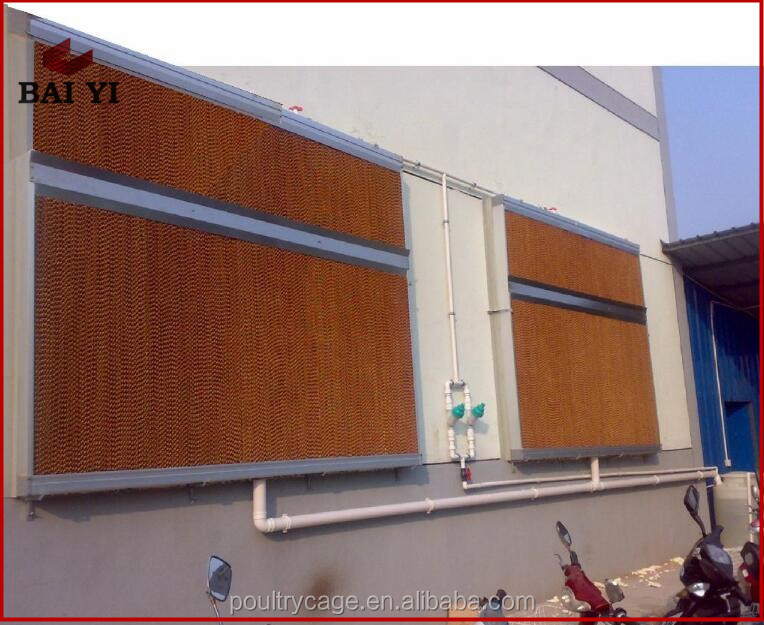 Poultry House Use Automatic Control Wet Curtain Cooling System