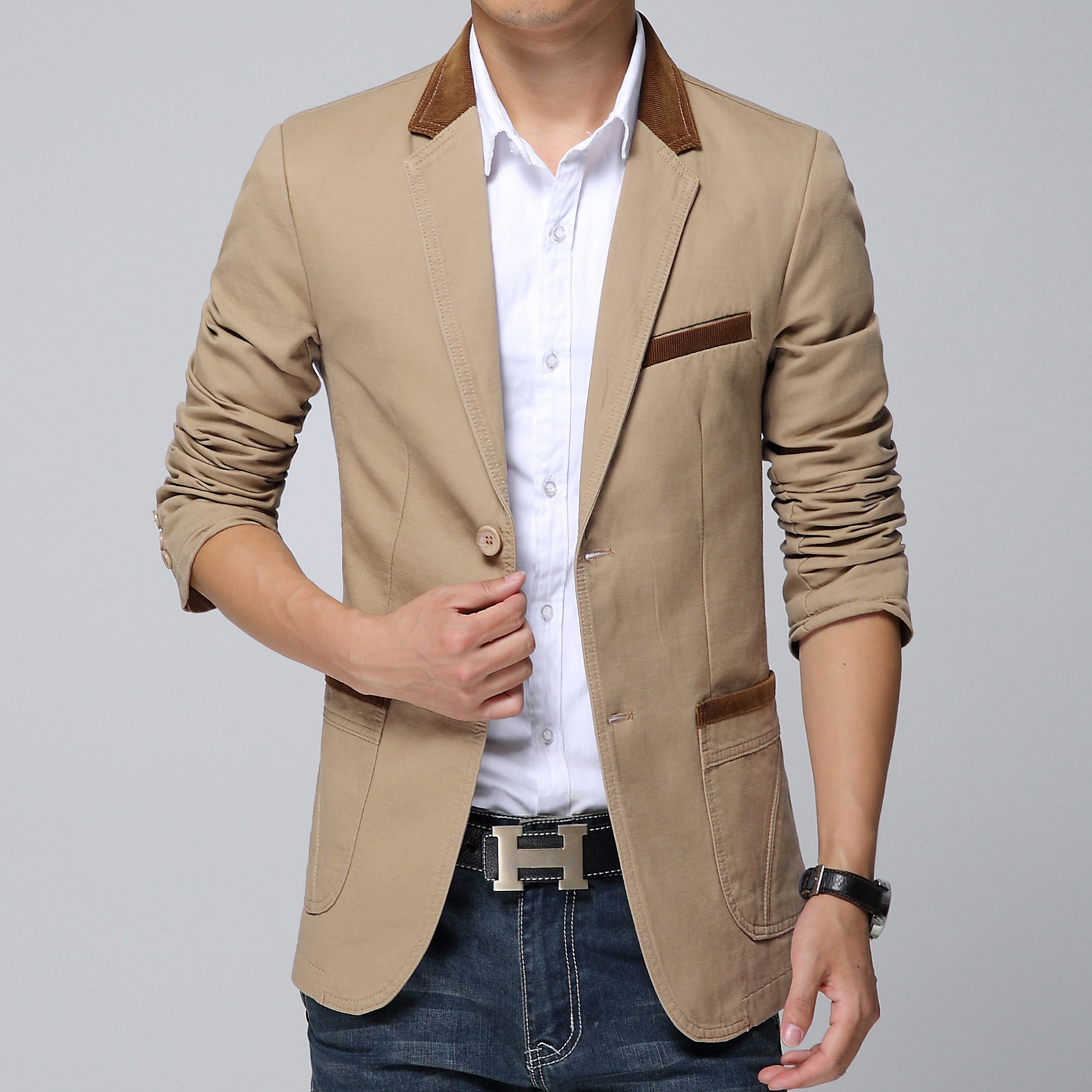 2015 New Arrival Casual Blazer Men Black Khaki Coffee ...