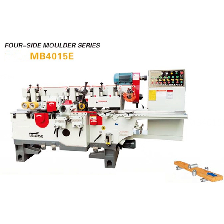 moulding machine with four asxis planer 4 sided wood moulder for wood floor and banisters