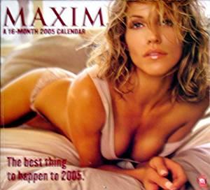 Maxim Wall Calendar 2005