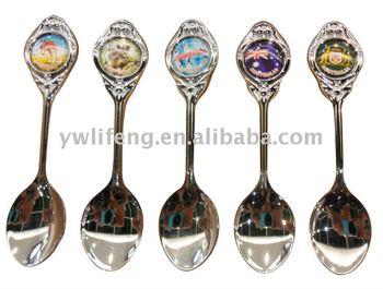 Newest item silver Metal Souvenir Spoon