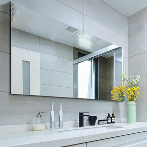 High Quality Bathroom mirror with frameless bathroom hinged wall mirror decorate make up bevelled mirror for hotel